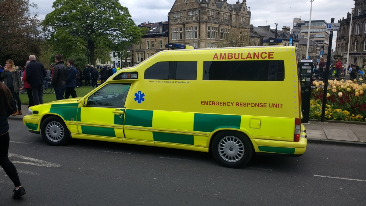 A specialist cycle riders ambulance